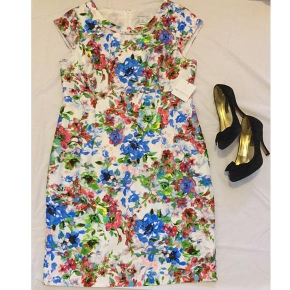 LIZ CLAIBORNE gorgeous floral dress (plus size!) NWT