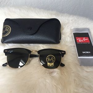Ray Ban black Clubmaster sunglasses authentic