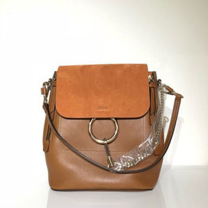 Chloe Brown Leather Faye Backpack