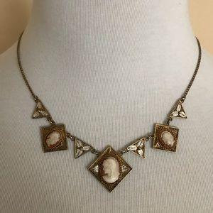 Italian silver vintage cameo necklace