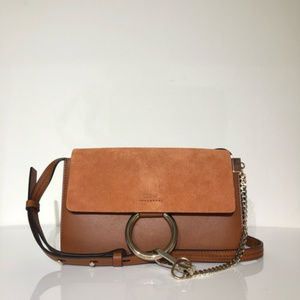 Chloe Brown Leather Faye Shoulder Bag