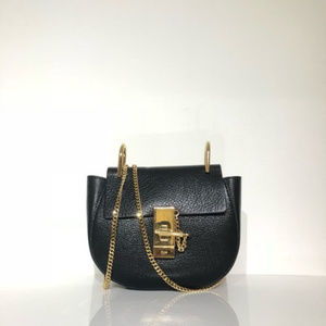 Chloe Black Leather Drew Shoulder Bag