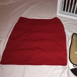 Charlotte russe❤️ red mini skirt