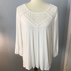 White Blouse Extra Large long Sleeve