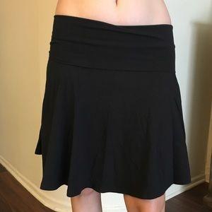 BDG Black Cotton Skirt / Strapless Dress
