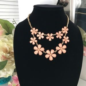 Peach and gold necklace