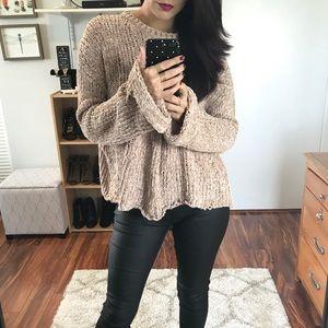 🆕 Daniela Bell Sleeve Chenille Sweater - Fawn