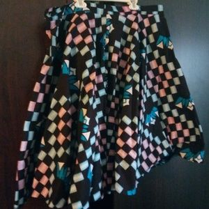 Multi Color African Skirt