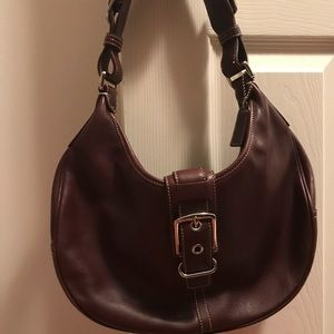 Coach Hobo purse in burgundy