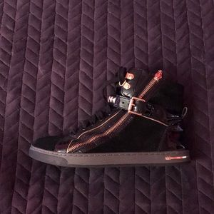 Black Micheal Kors Sneakers W/ Leather inside