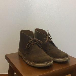 Women's Clarks Desert Boots in Beeswax.
