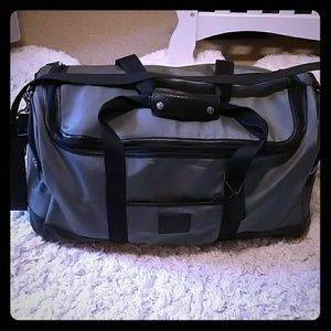 Coach Voyager Cabin travel luggage bag with leathe
