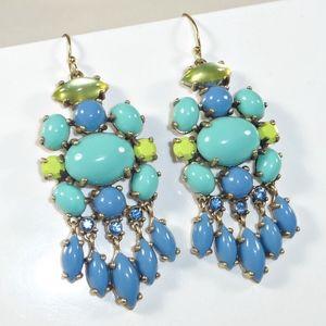 Stella & Dot Turquoise Aviva Chandelier Earrings