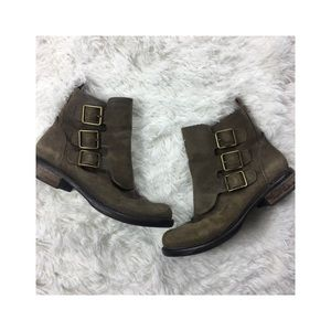 Lucky Brand Moto Buckle Ankle Boots