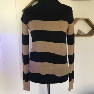 H&M Tan & Black striped sweater
