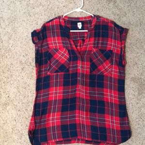 GAP short sleeve flannel shirt