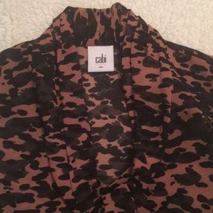 CAbi size small animal print shell top. NWOT.