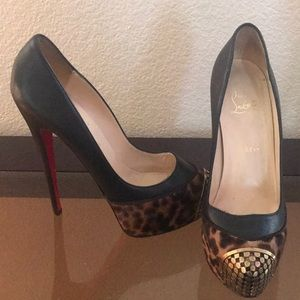 Cheetah Fur Toe / Christian Louboutin Heels