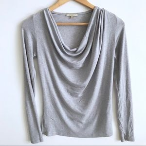 Bordeaux Light Gray Long Sleeve Top