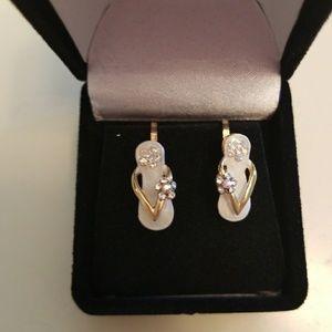 Nwt Monet Vintage Clip On Angel Earrings