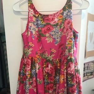 Girls Polo Ralph Lauren floral pink dress