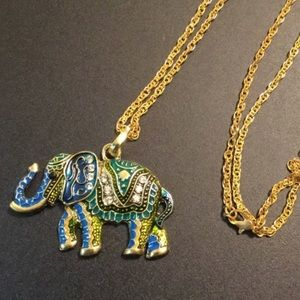 "Long 22"" Elephant Necklace New"