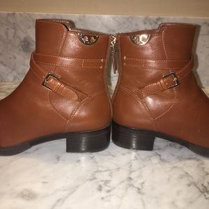 Tory Burch Sydney Bootie in Penny Brown