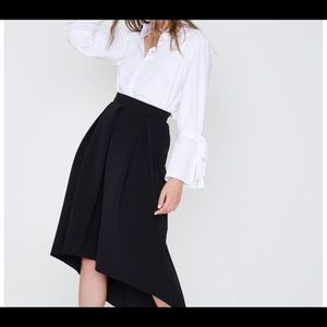 NWT River Island Black High-Low Midi Skirt