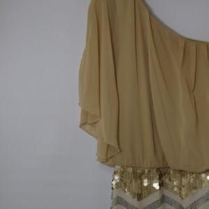 As u wish gold sequin dress