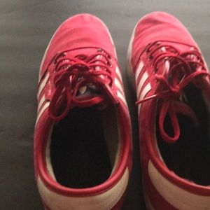 Other - Adidas red tennis shoes