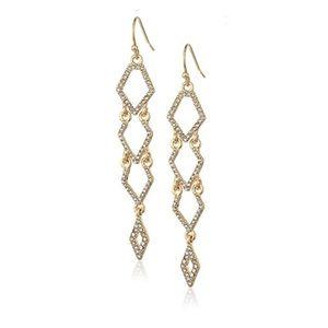 Rebecca Minkoff Gold & Pave Dangling Earrings