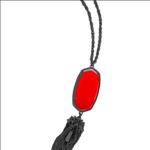 Kendra Scott Rayne in Bright Red & Gunmetal