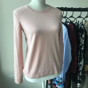 Everlane Cashmere Crew Neck Sweater Soft Pink