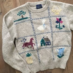 Vintage The Woolrich Woman M Pullover Wool
