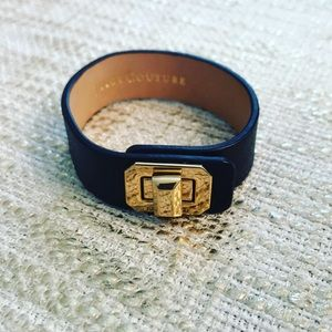 ✨Juicy Couture Gold Clasp Leather Bracelet