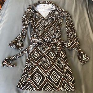 Diane von fursenburg silk vintage wrap dress