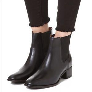 Frye Dara Chelsea Black Leather Ankle Boot 7.5