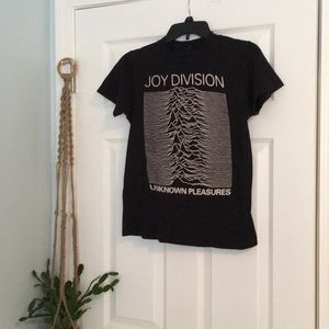 Tops - Joy Divisions Unknown Pleasures Fitted T-shirt