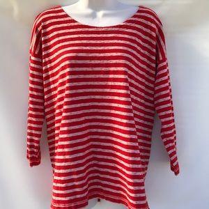 Madewell 3/4 sleeves stripes large