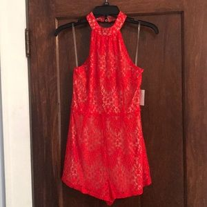 *NEW* Red Lace Romper
