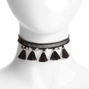 NWT Chan Luu Boho Choker Black Necklace