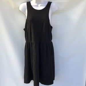 Free people sleeveless black dress large