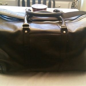 Mens weekender Authentic Coach black leather bag