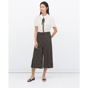 Zara bow print culottes