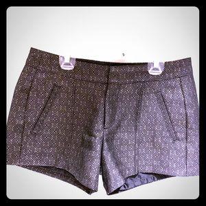 Old Navy Black & Gold Patterned Shorts