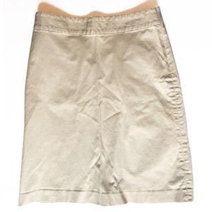 Banana Republic stretch khaki skirt