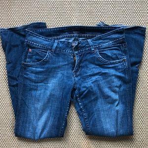 Very worn Hudson jeans size 29x29