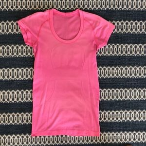 Short Sleeve lululemon Fitted Pink Top