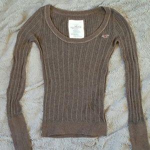 Hollister brown sweater