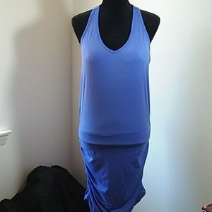 M Athleta Dress, Periwinkle Blue, Ruched Sides